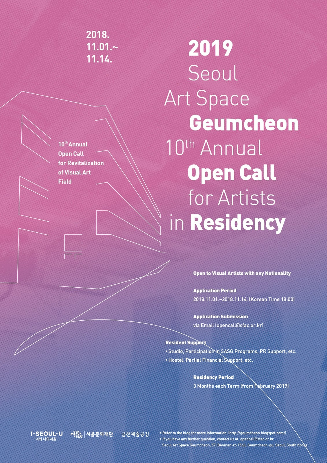 Seoul Art Space GEUMCHEON 2019 residency call | ASEF culture360