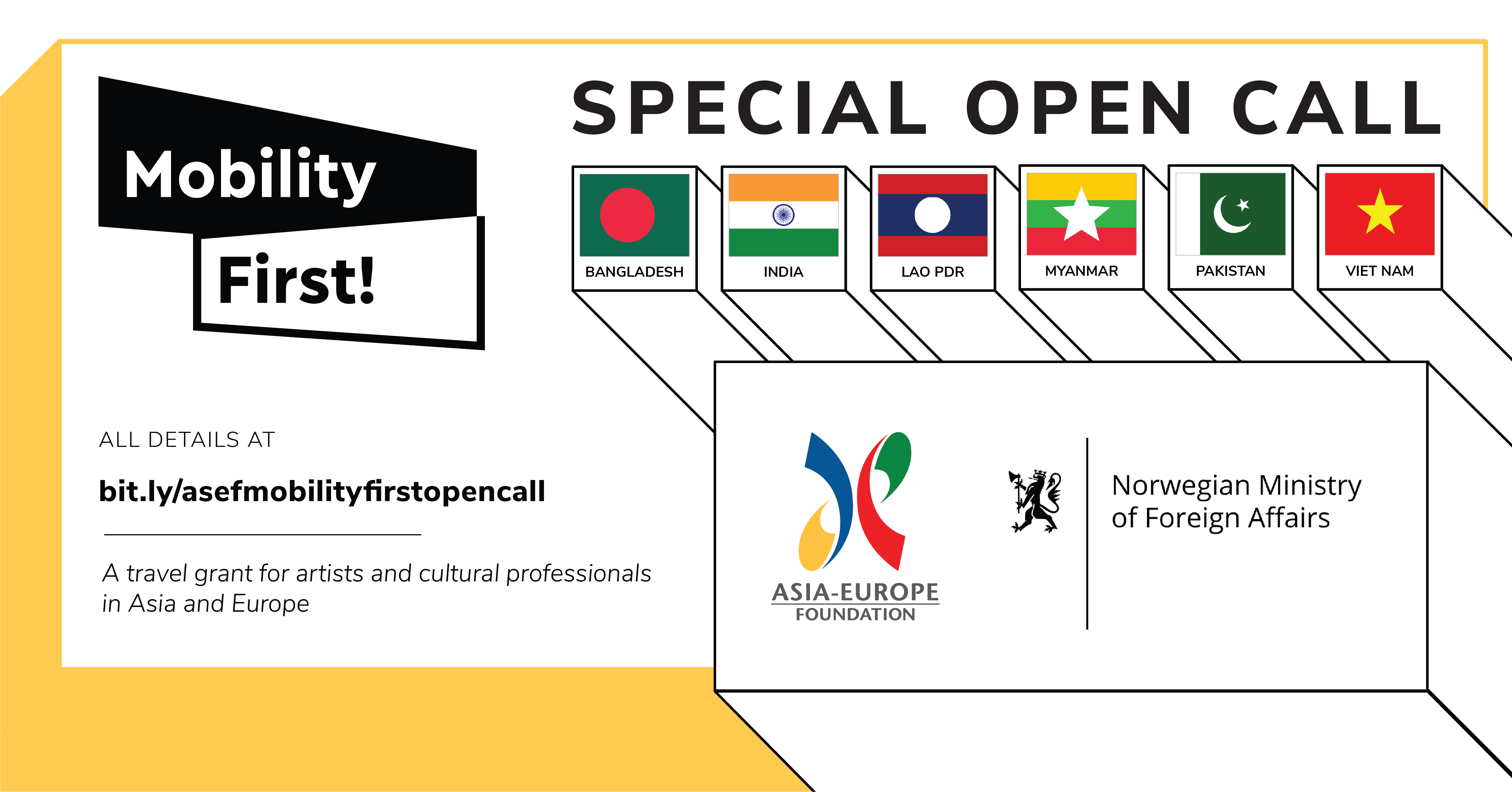 ASEF Mobility First! Special Open Call | With support from the Norwegian Ministry of Foreign Affairs