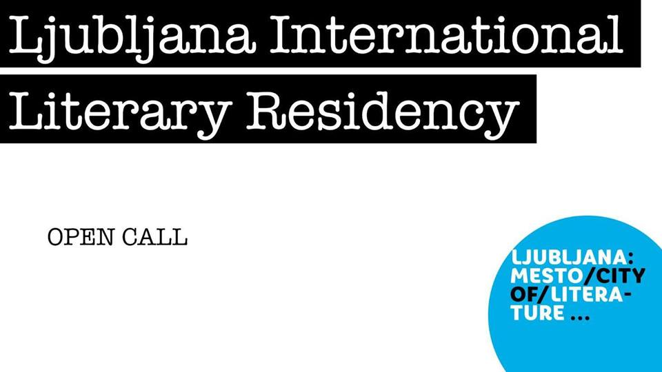 Poster announcing Ljubljana International Literary Residency 2019