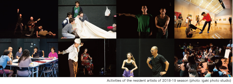 montage of performing arts projects carried out at KIAC