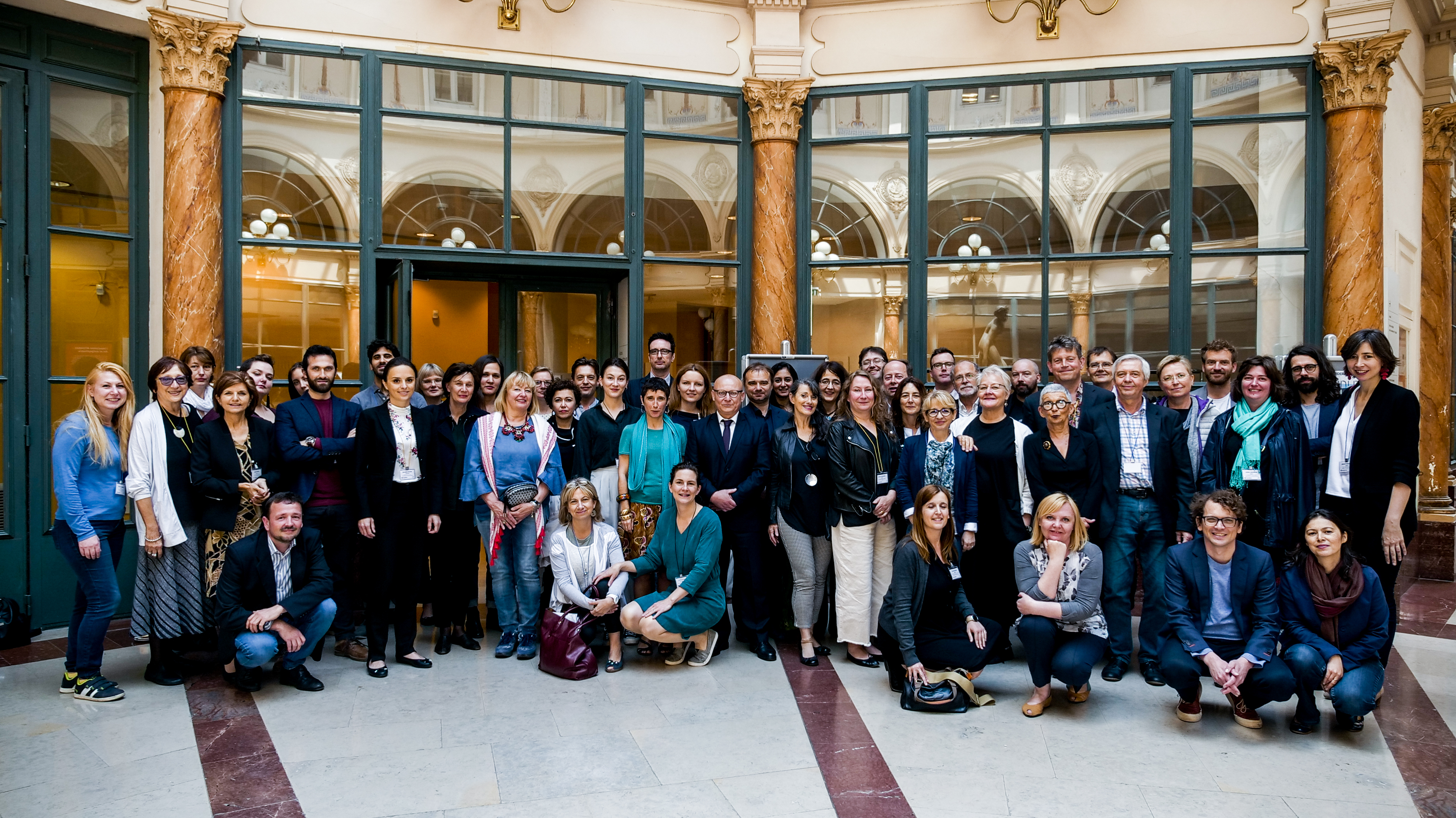 Assembly group picture at the Institut national d'histoire de l'art in Paris, France