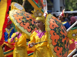 Performers of the Street Dancing Competition during the Kalilangan Festival in General Santos City, Philippines