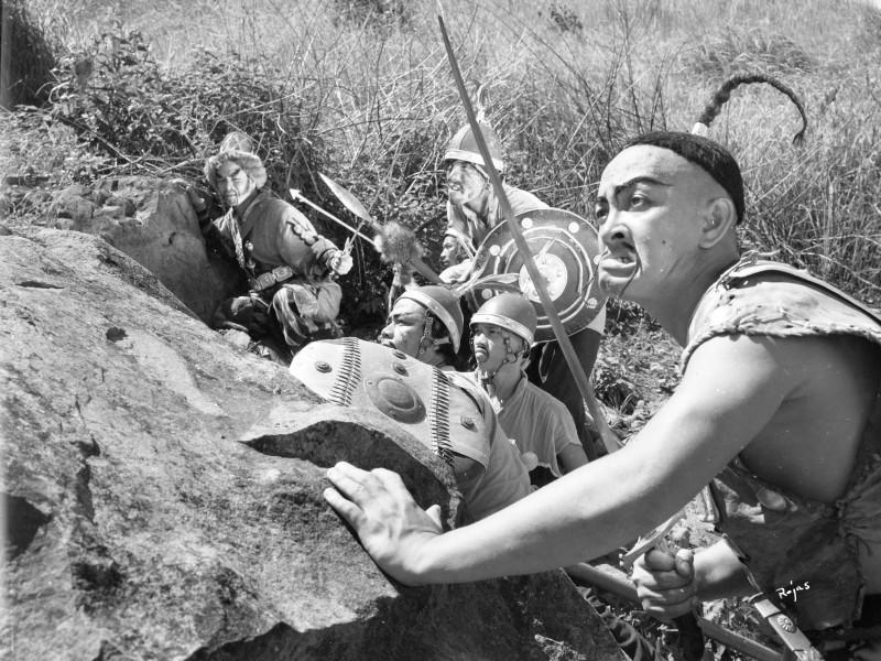 """""""Genghis Khan"""", film still, Manuel Conde (1950). Photo by Emmanuel Rojas"""