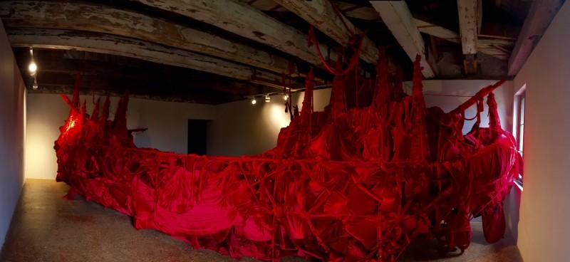 """""""Shoal"""" (2015), Jose Tence Ruiz, installation. Photo by Lai del Rosario."""