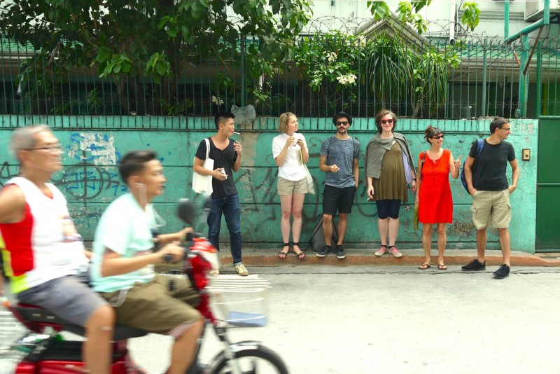 The curatorial mapping in Manila participants of the project in front of the Museum of Contemporary Art and Design (Photo credit Sidd Perez