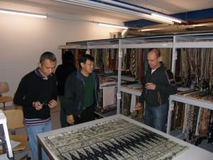 In the Textile Depot of the Museum der Kulturen Basel. © Jani Kuhnt