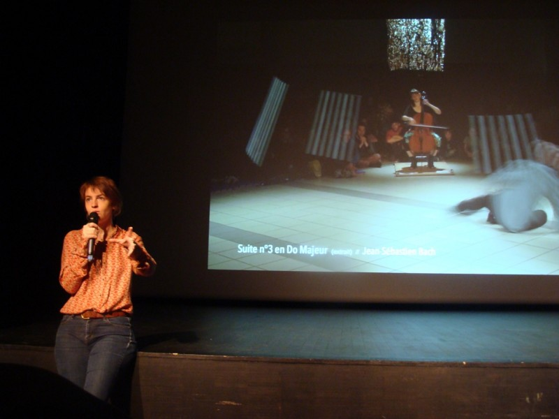 Noemi Boutin presenting her work during Meet the Makers at Carreau du Temple, © Ada Bautista