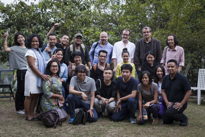 CuratorsLab full team in Bandung. Courtesy Diana Pfammatter