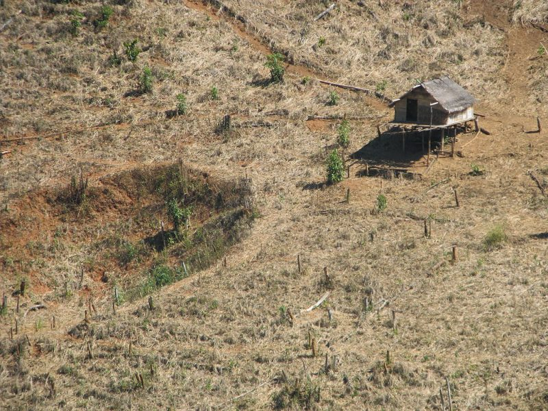 Bomb_crater_in_farming_fields,_Laos_2009._Photo-_AusAID_(10677551563)