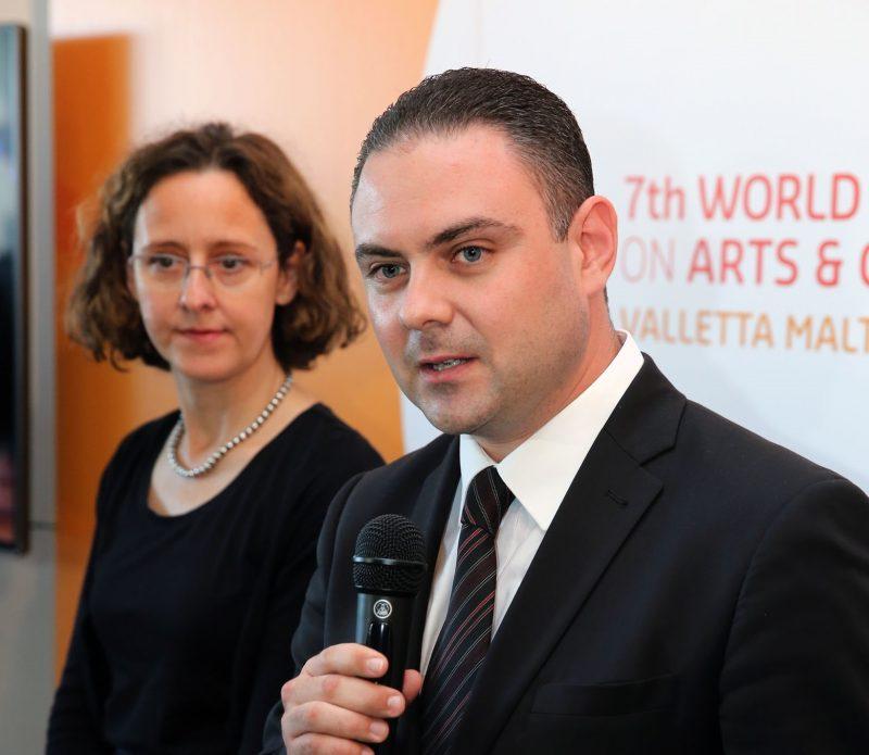 Dr Nina OBULJEN, Programme Director and Dr Owen BONNICI, Minister of Culture, Malta