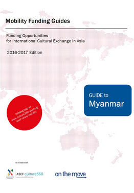 Mobility funding - Guide to Myanmar