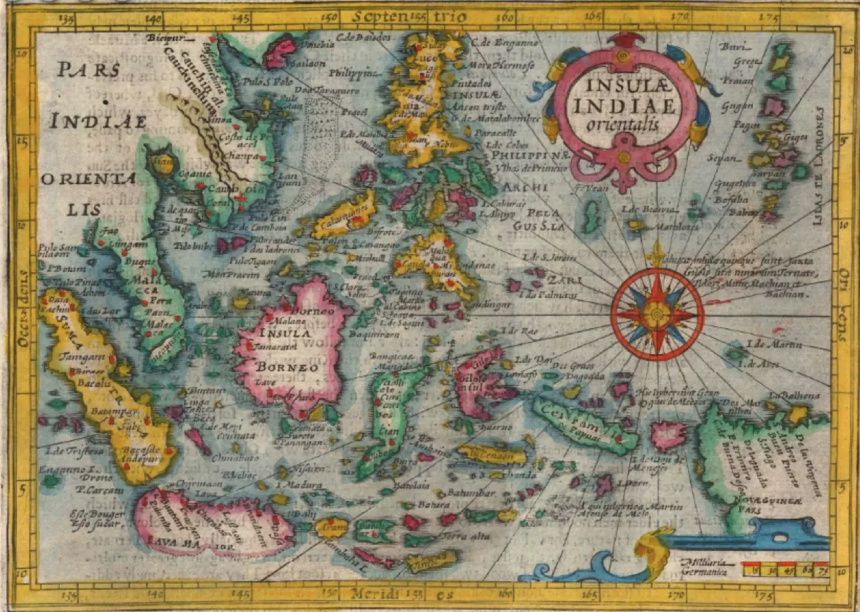 Insulae Indiae Orientalis, 1625, Cartographer. Samuel Purchas, The Map House of London