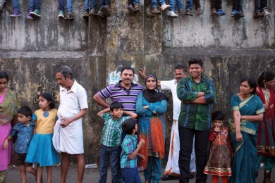 This was taken in January   2012 in Kochi, India, during the Kochi Carnival. It   captures the importance of family and friendship in   Indian culture.