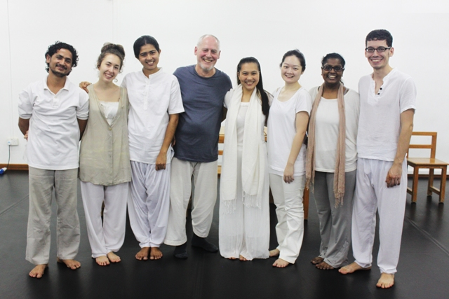 Phillip Zarrilli with some of his students