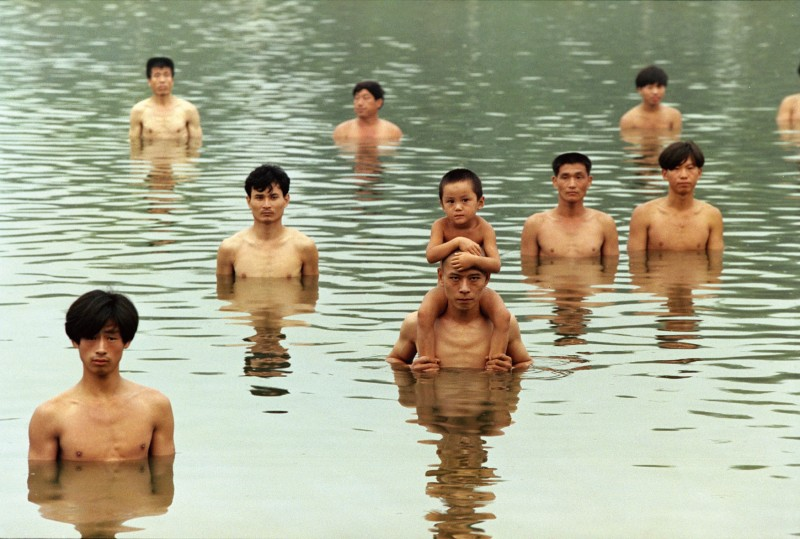 Zhang.Huan_To-Raise-the-Water-Level-in-a-Fishpond_Venice.International.Performance.Art.Week_2014