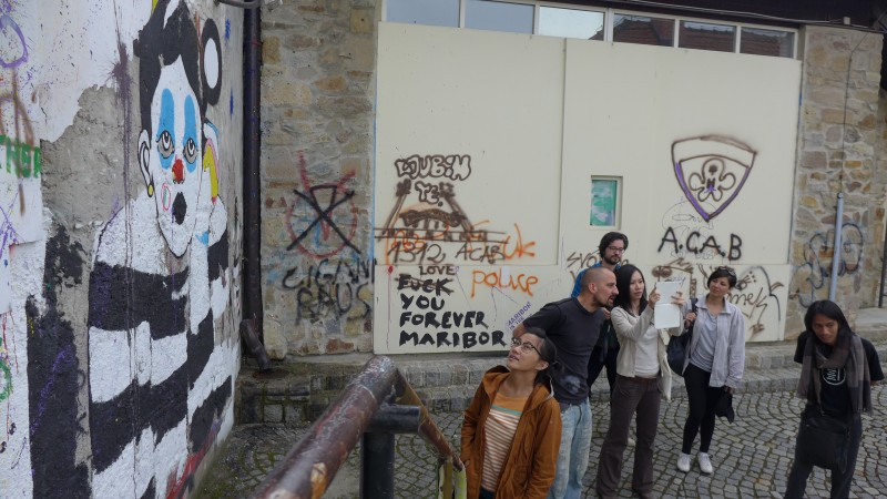 Tour of Transnational Guerilla Art School with Miha Horvat. (Maribor, Slovenia)