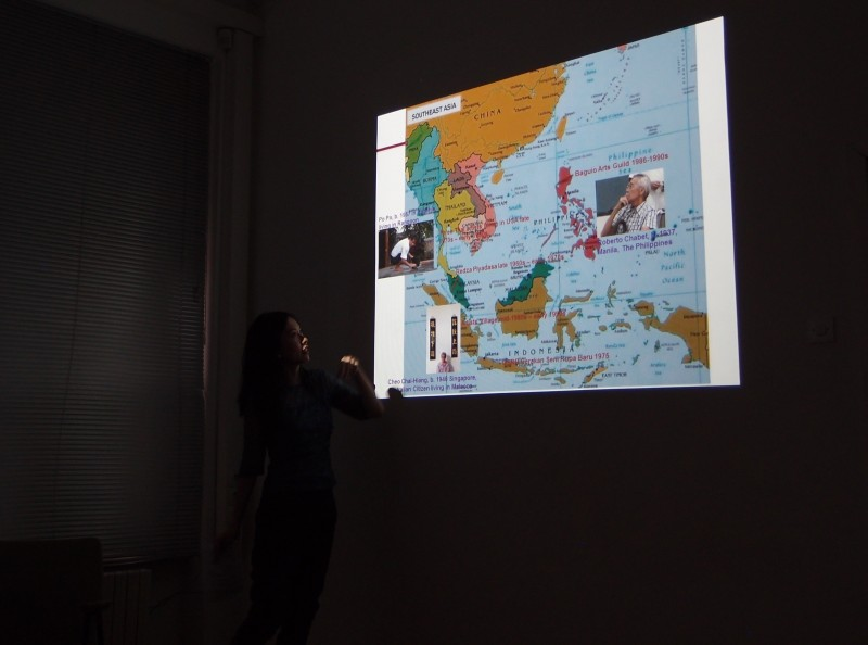 The presentations of curatorial practices in the context of Southeast Asia in Ljubljana; Isabel Ching: Frames of Conceptualism from Southeast Asia, SCCA Project Room (Photo credit: SCCA-Ljubljana archive)