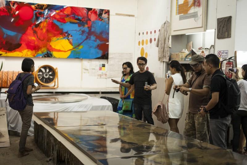 Visit to Arin Dwihartanto Sunaryo's studio in Bandung. Courtesy Diana Pfammatter