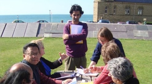 Outdoors-workshop-Aberystwyth-Wales-India-Writers-Chain-June-2011-2-493x273
