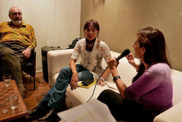Vincenzo Montella, Oka Rusmini and Antonia Soriente at Eva Luna Cafè, Ph_Rino Vellecco