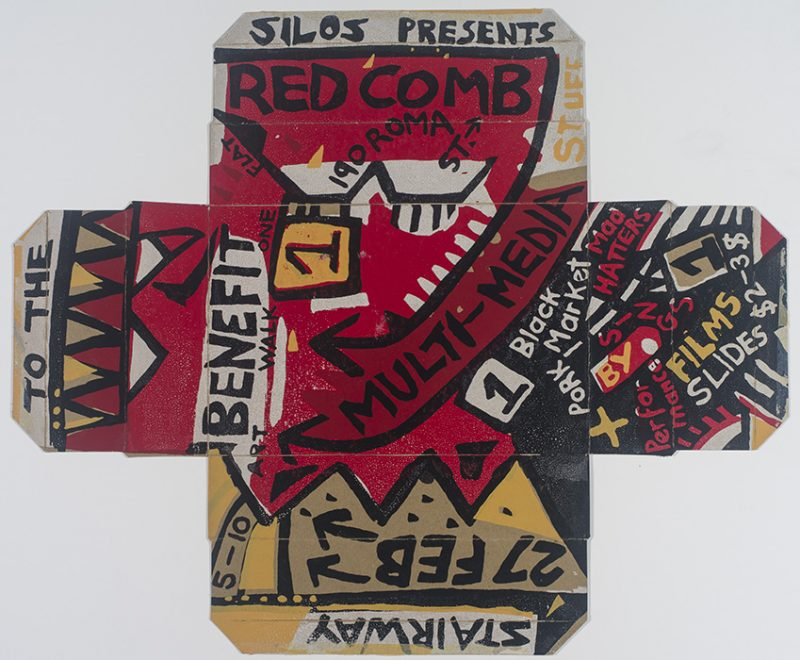 Hollie, Silos presents multi-media stuff (Exhibition poster, 1982)