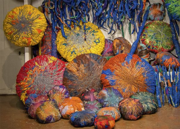 Sheila-Hicks-Embassy-of-Chromatic-Delegates-installation-2015-2016-Photo-by-Cristobal-Zañartu