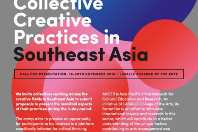 ANCER Research Camp, Singapore | call for presentations on Collective Creative Practices in SE Asia