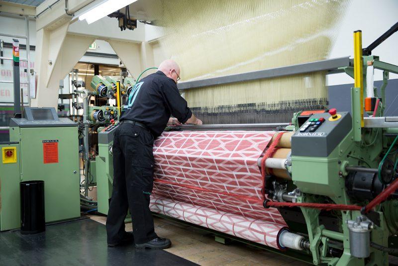 Weaving, TextielLab, 2013 - Photo: Tommy de Lange commissioned by TextielMuseum