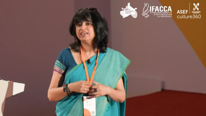 Funding organisations should demonstrate deep contextual understanding of their operating environments: Arundhati Ghosh, Executive Director, India Foundation for the Arts. Photo credit: Piero Zilio