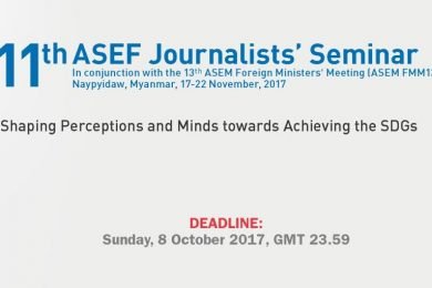 11th ASEF Journalists' Seminar | Open Call